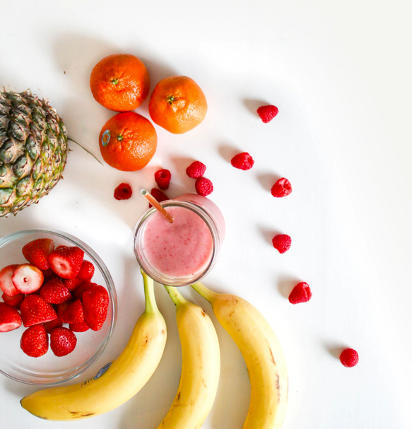 Fruits and smoothie for chronic pain alternative treatments.