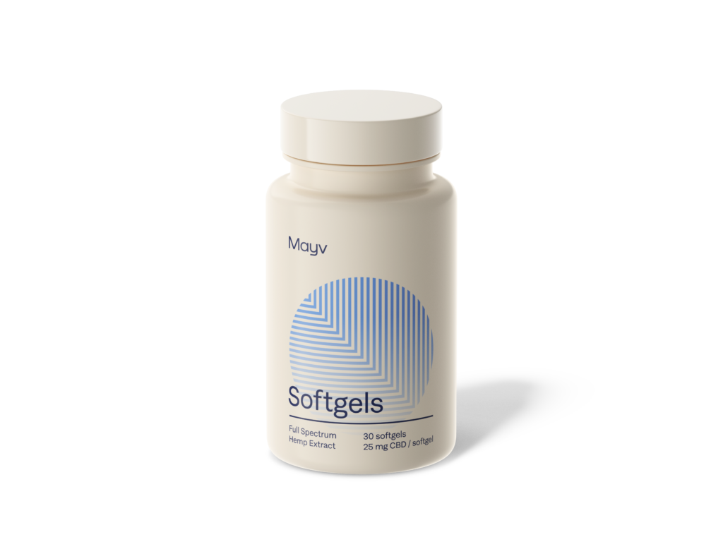 Mayv softgel capsules offer on-the-go pain relief